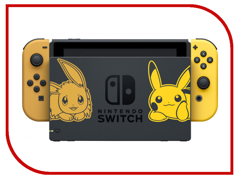 Игровая приставка Nintendo Switch Pikachu & Eevee Edition + Pokemon: Lets Go, Pikachu! + Poke Ball 50pcs atmega328p pu dip atmega328 pu dip28 atmega328p new and original ic free shipping