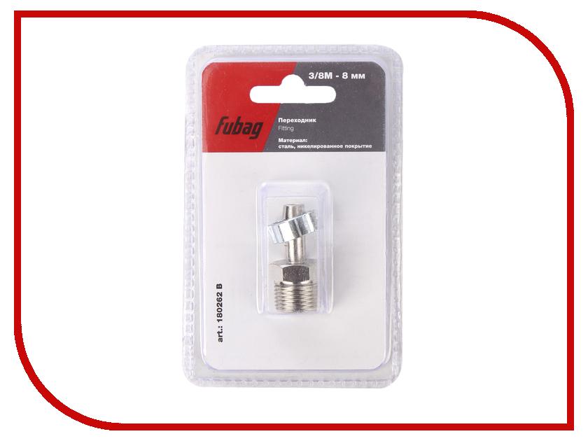 Переходник Fubag 3/8М на елочку 8mm с обжимным кольцом 8x13mm блистер 1шт 180262 B