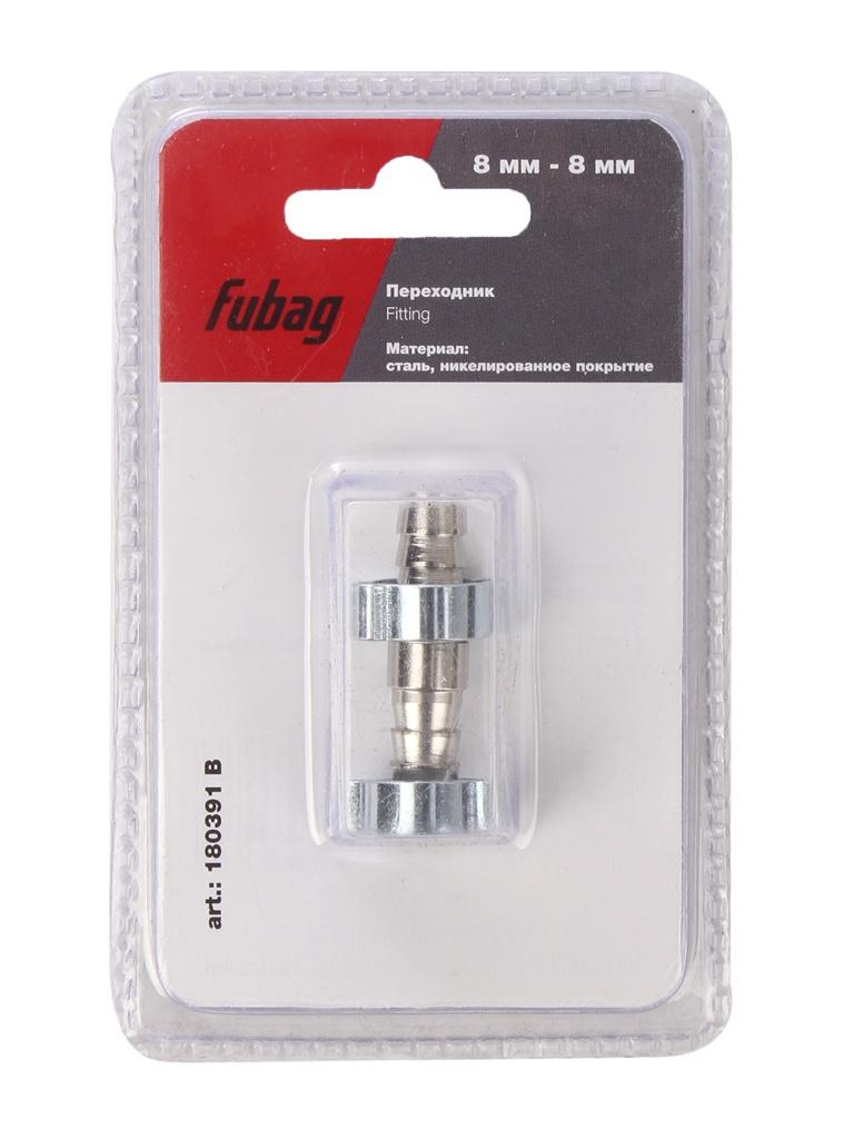 Переходник Fubag 8mm елочка на елочку с 2- мя обжимными кольцами 8x13mm блистер 1шт 180391 B