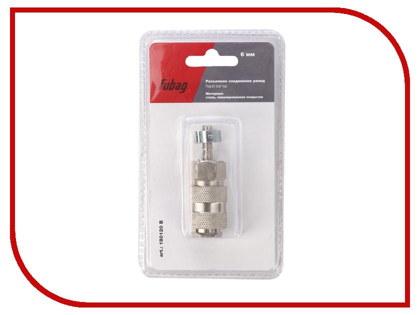 Разъемное соединение рапид Fubag елочка 6mm с обжимным кольцом 6x11mm блистер 1шт 180120 B