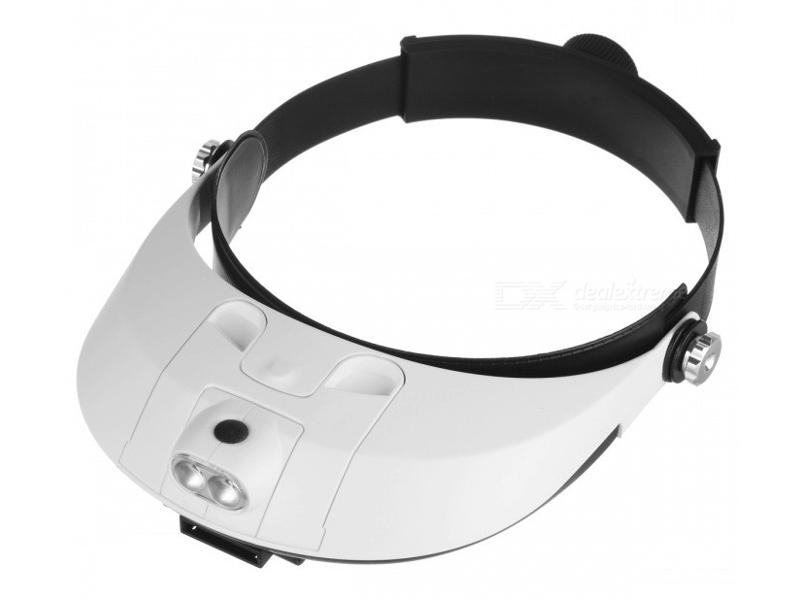 Лупа налобная Kromatech MG81001-G 1x/2x/3x/4x/5x/6x с подсветкой 2 LED 23149w195 цена и фото