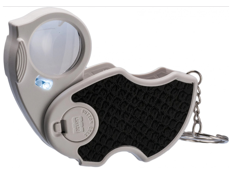 Фото - Лупа Kromatech MG7101 45x d-25mm с подсветкой + ультрафиолет 2 LED 23149bw131 выключатель двухклавишный schneider electric 2 мод unica new с подсветкой 2х сх 1а белый nu521118n