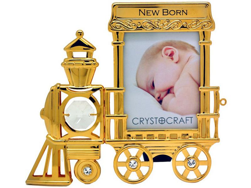 Рамка Crystocraft Паровозик 491-042-GCL подсвечник crystocraft цветок 11 c04 gcl