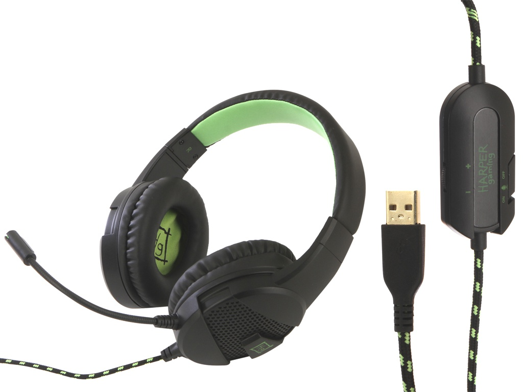 Наушники Harper Gaming Mirage GHS-X15 Black-Green