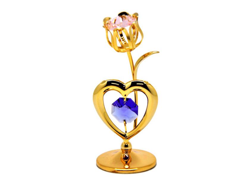 Фигурка Crystocraft Тюльпан с сердцем 175-001-GМХ фигурка crystocraft сердце с солнцем 174 001 gмх