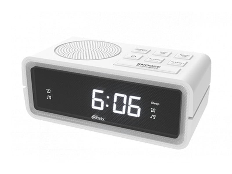 Часы Ritmix RRC-606 White универсальный пульт ду для тв rolsen rrc 120 rrc 120