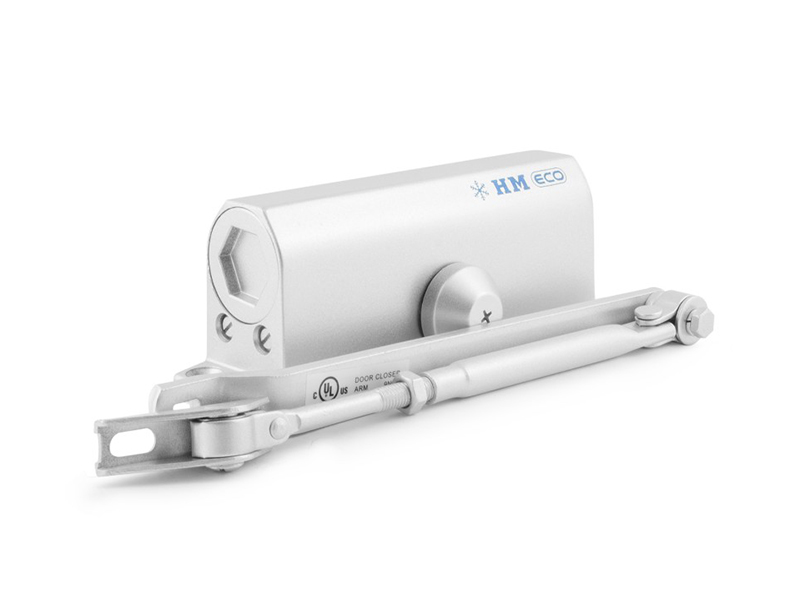 Доводчик дверной Нора-М 530 Eco Silver доводчик дверной нора м 2s 50кг white 4984