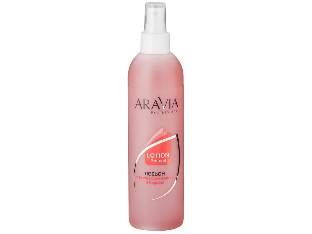 Aravia Professional Лосьон для подготовки кожи перед депиляцией с экстрактами мяты и березы 300ml 1020