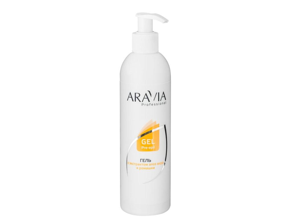 Aravia Professional Гель для обработки кожи перед депиляцией с экстрактами алоэ вера и ромашки 300ml 1021