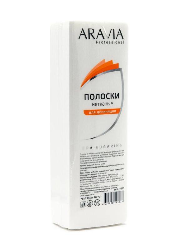 Домашний шугаринг Aravia Полоски нетканые для депиляции 100 штук 1010