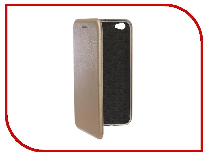 Аксессуар Чехол для BQ BQ-5521L Rich Max Экокожа, Silicone Gold аксессуар чехол для bq 5007l iron silicone transparent