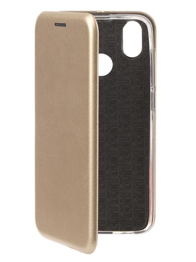 Аксессуар Чехол для BQ BQ-5011G Fox View Экокожа, Silicone Gold аксессуар чехол для bq 5056 fresh silicone transparent