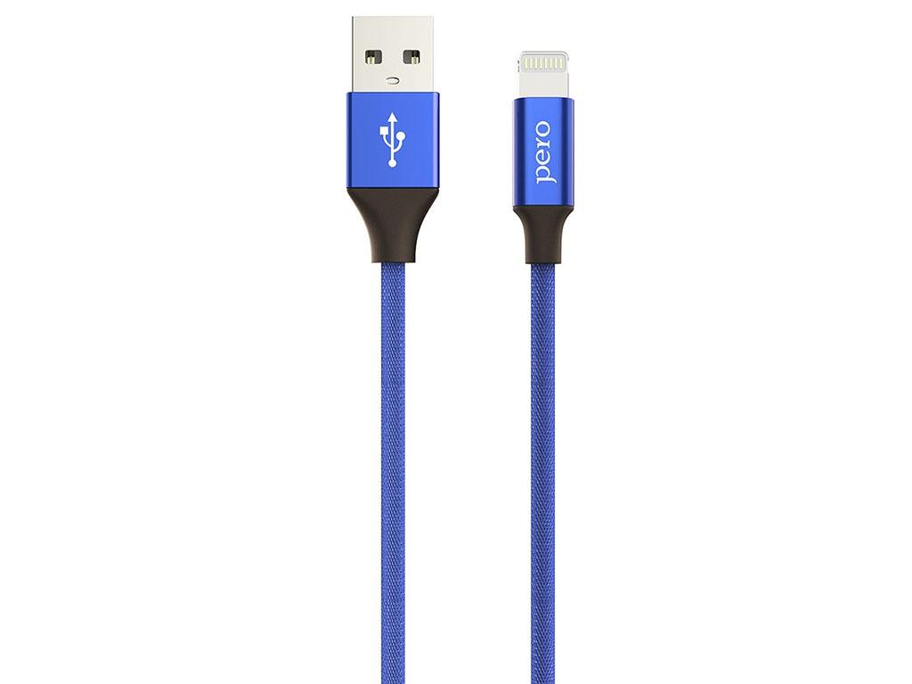 Аксессуар Pero DC-02 USB - Lightning 2.4A 1m PRDC-028P1MBL Blue