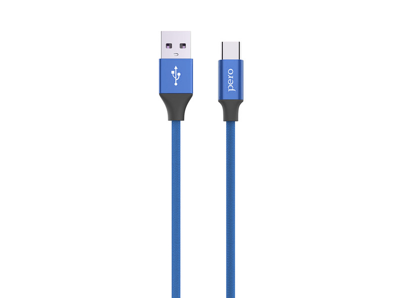 Аксессуар Pero DC-02 USB - Type-C 2.4А 1m PRDC-02TC1MBL Blue аксессуар perfeo usb 2 0 a usb type c 1m black blue u4903