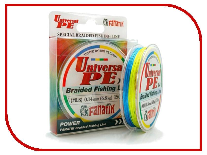 Шнур плетёный Fanatik Universal PE X4 (#0,8) 0.14mm 150m UNPEX415008C