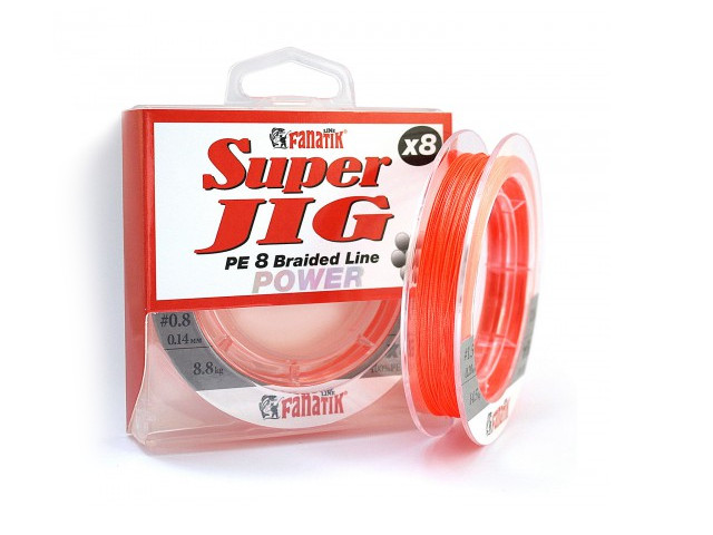 Леска Fanatik Super Jig PE X8 (#0,8) 0.14mm 120m Orange SJPEX812008O