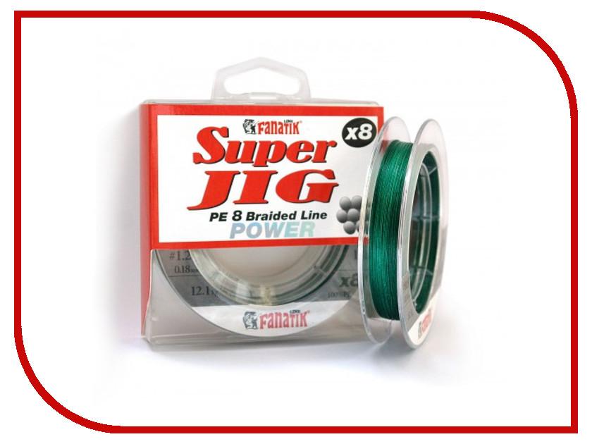 Шнур плетёный Fanatik Super Jig PE X8 (#1,2) 0.18mm 100m Green SJPEX810012G