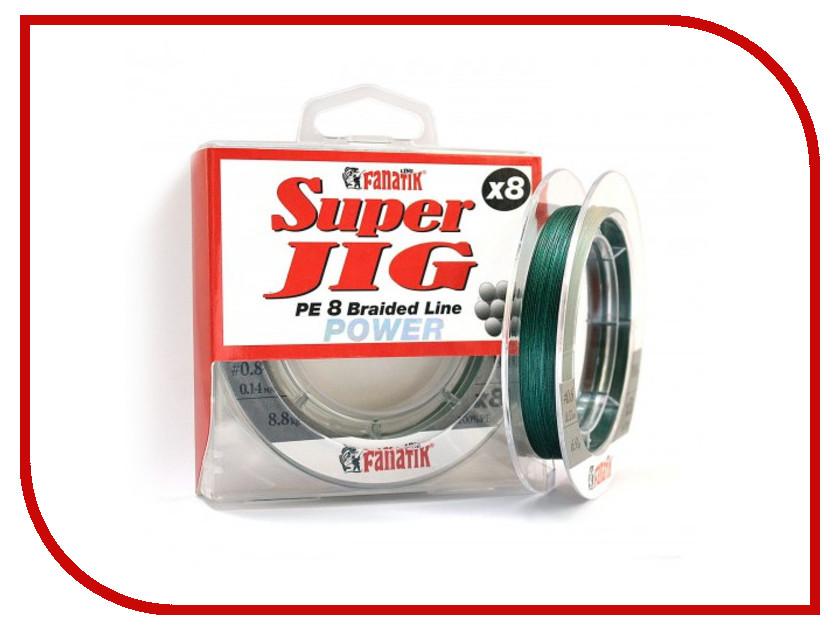 Шнур плетёный Fanatik Super Jig PE X8 (#0,8) 0.14mm 100m Green SJPEX810008G