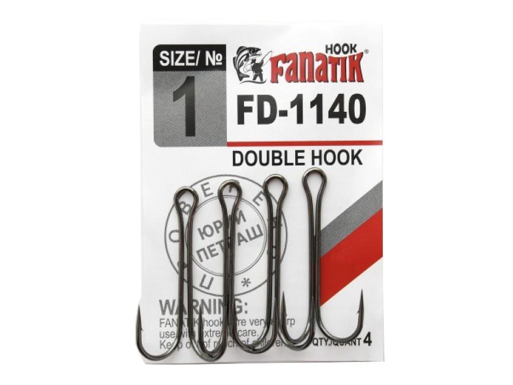 Крючки Fanatik Двойник №1 4шт FD-1140