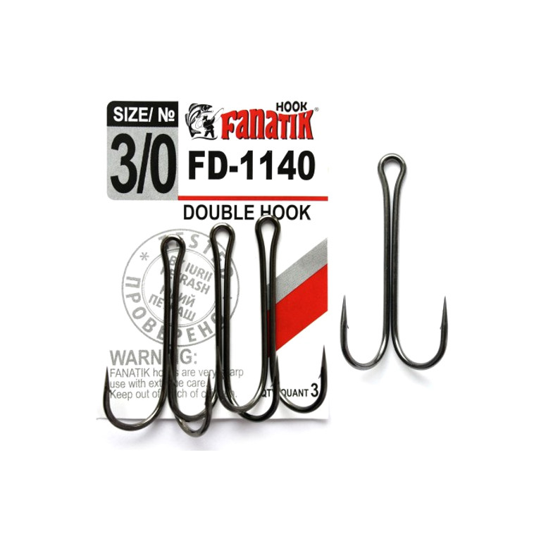 Крючки Fanatik Двойник №3/0 3шт FD-1140