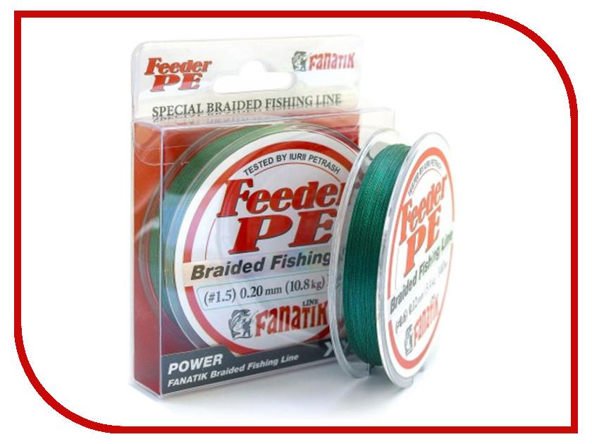 цена Леска Fanatik Feeder PE X4 (#1,5) 0.20mm 140m Green FPEX414015G