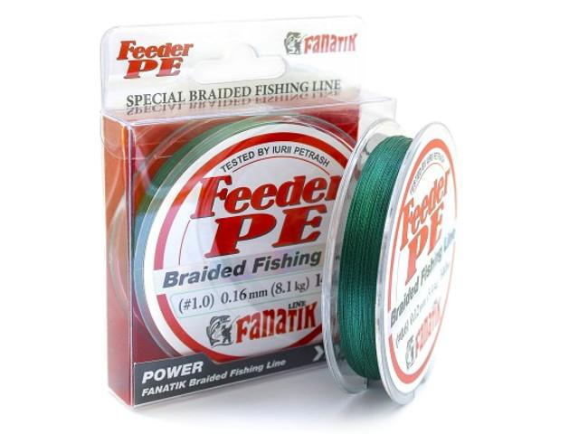 Леска Fanatik Feeder PE X4 (#1,0) 0.16mm 140m Green FPEX414010G