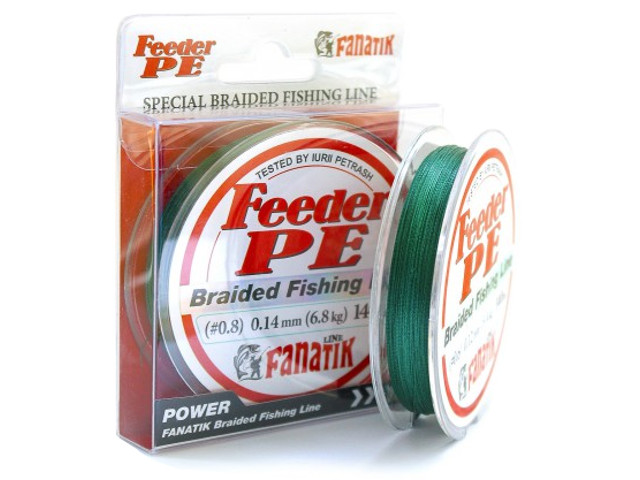 Леска Fanatik Feeder PE X4 (#0,8) 0.14mm 140m Green FPEX414008G