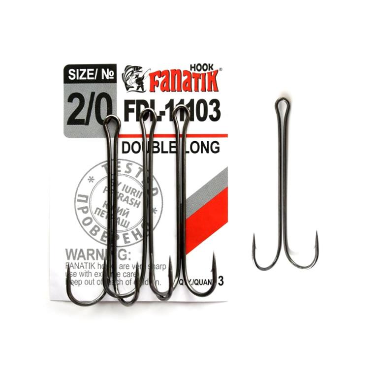 Крючки Fanatik Двойник №2/0 3шт FDL-11103