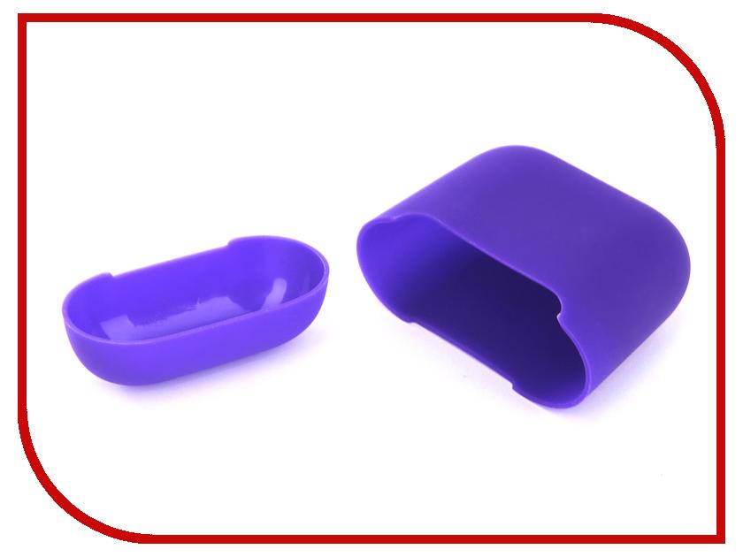 Аксессуар Чехол Gurdini Ultra Slim Silicone для Airpods Violet 907789 аксессуар gurdini ipod shuffle 110030