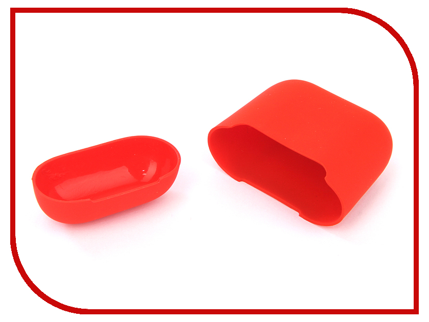 Аксессуар Чехол Gurdini Ultra Slim Silicone для Airpods Red 907787 аксессуар gurdini ipod shuffle 110030
