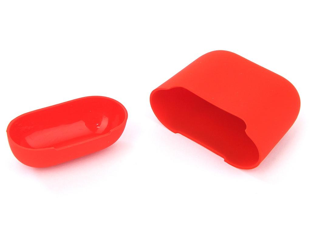 Аксессуар Чехол Gurdini Ultra Slim Silicone для Airpods Red 907787