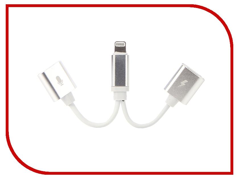 Аксессуар Gurdini Double Lightning Audio + Charge 2A Silver-White 904448 аксессуар