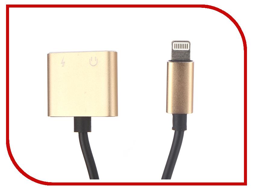 Аксессуар Gurdini Adapter Dual Lightning Audio - Charge 10cm Champagne 904455