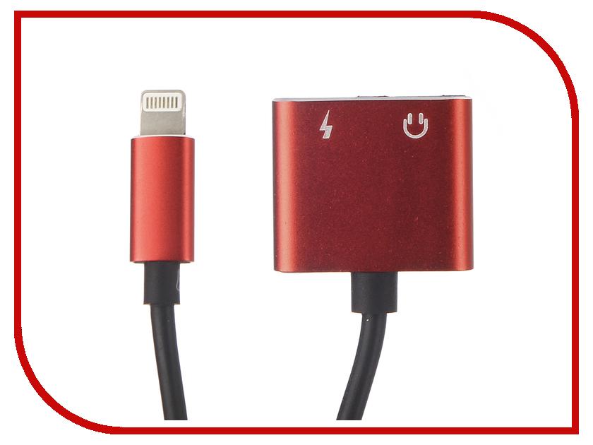 Аксессуар Gurdini Adapter Dual Lightning Audio - Charge 10cm Red 904453