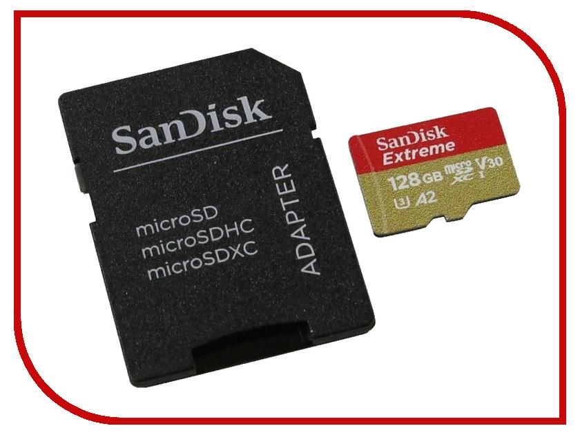 Карта памяти 128Gb - SanDisk MicroSD Extreme Class 10 SDSQXA1-128G-GN6MA с переходником под SD потапов м шевкин а математика рабочая тетрадь 5 класс в 2 х частях комплект из 2 х книг в упаковке