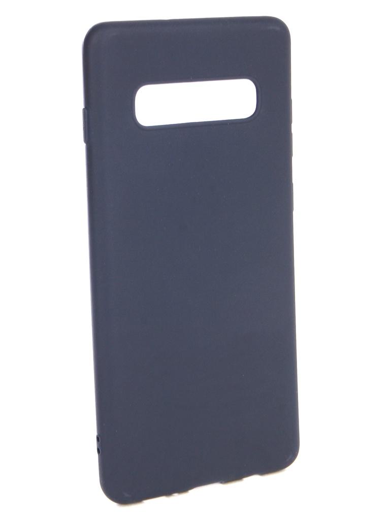 Аксессуар Чехол Neypo для Samsung Galaxy S10 Plus Soft Matte Silicone Dark Blue NST7203 аксессуар чехол neypo для nokia 6 1 plus x6 2018 soft matte dark blue nst6132