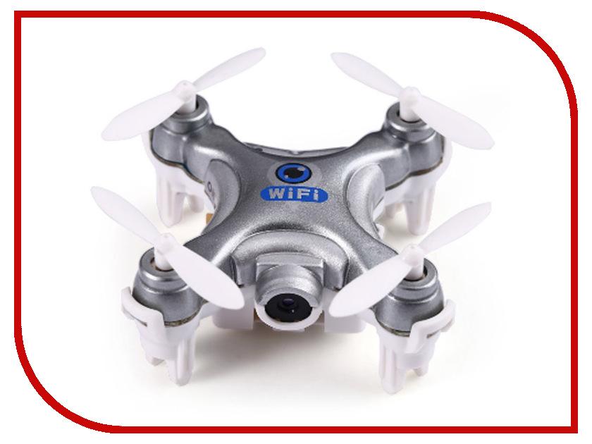Квадрокоптер Cheerson CX-10W-1 Silver cheerson cx 10w wifi fpv drone hd camera rc quadcopter 3d flips led