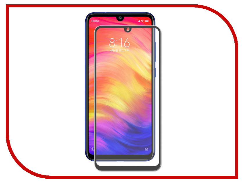 Аксессуар Защитное стекло для Xiaomi Redmi Note 7 Neypo Full Glue Glass Black Frame NFGL8819 аксессуар защитное стекло для xiaomi redmi 4x neypo full glue glass white frame nfgl4239