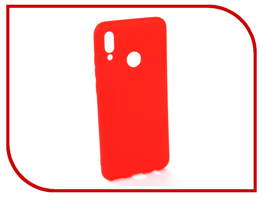 Аксессуар Чехол для Huawei P Smart 2019 Neypo Soft Matte Silicone Red NST7188 аксессуар чехол для huawei p smart 7s innovation silicone pink 12840