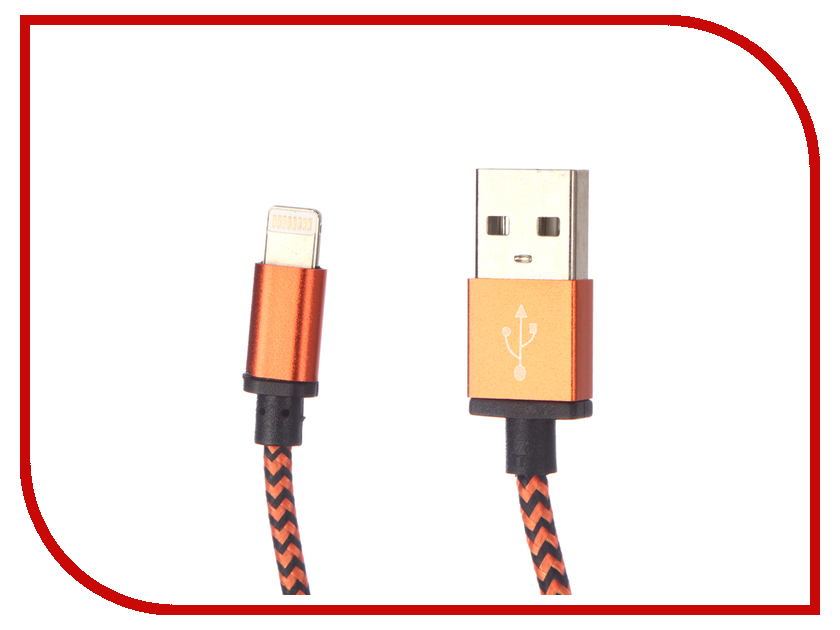 Аксессуар Palmexx Lightning to USB PX/LACE IPH5 ORANGE аксессуар usams us sj199 usb lightning 1 2m blue
