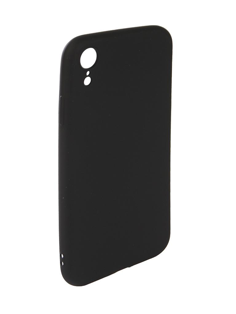 Аксессуар Чехол Neypo для APPLE iPhone XR Neon Silicone Black NSTN5888 аксессуар чехол snoogy creative silicone 0 3mm для apple iphone 5 black