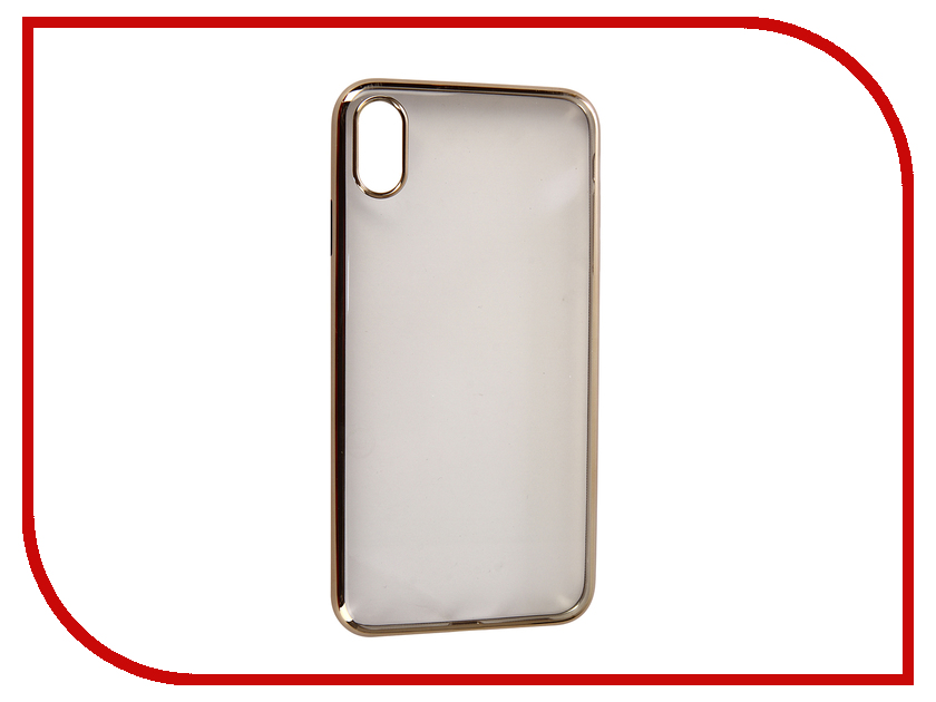 Аксессуар Чехол для APPLE iPhone XS Max Neypo Aura Silicone Gold Metallic NSTA5144