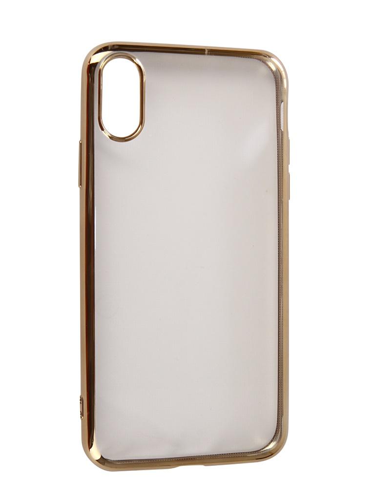 Чехол Neypo для APPLE iPhone XR Aura Silicone Gold Metallic NSTA5139