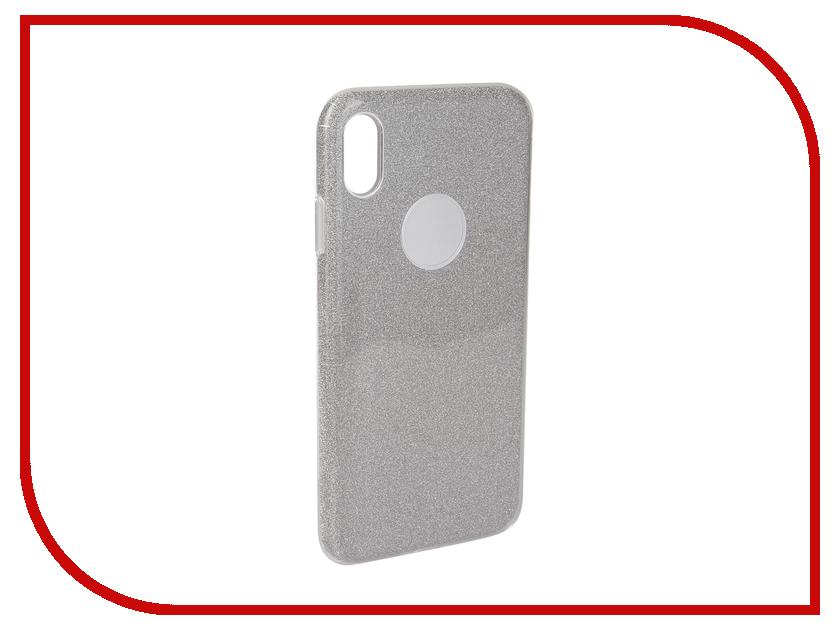 Аксессуар Чехол Neypo для APPLE iPhone Xs Max Brilliant Silicone Silver Crystals NBRL5939