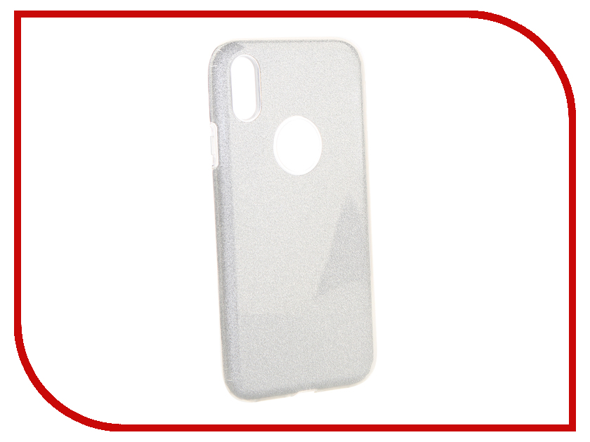 Аксессуар Чехол Neypo для APPLE iPhone XR Brilliant Silicone Silver Crystals NBRL6157