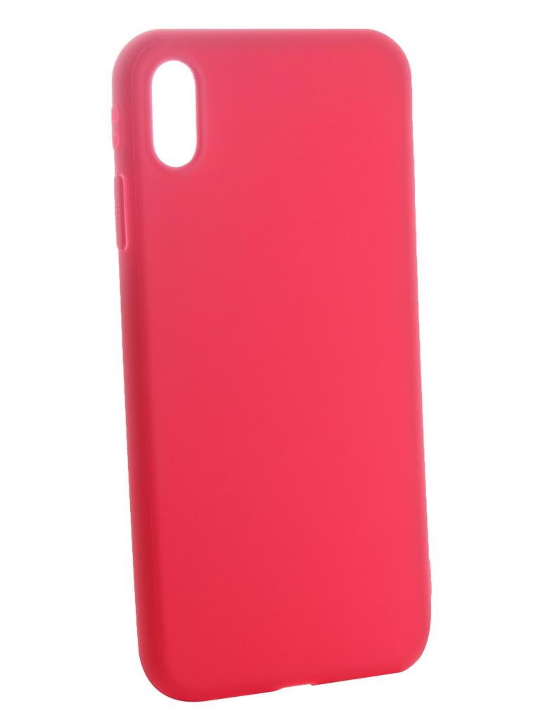 Аксессуар Чехол Neypo для APPLE iPhone Xs Max Soft Matte Silicone Dark Pink NST6065