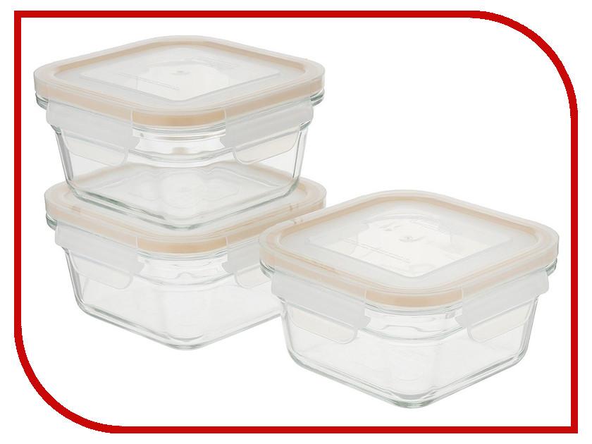 Набор контейнеров Glasslock GL-1108 набор прямоугольных контейнеров для еды 2штуки glasslock gl 1045