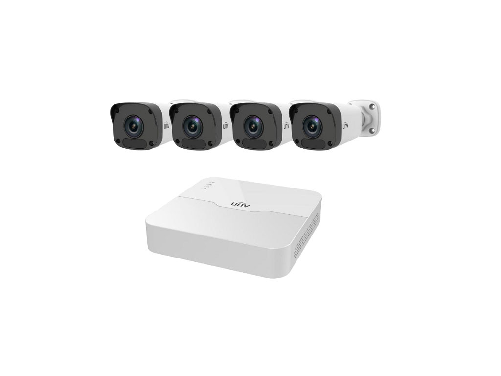 Комплект видеонаблюдения UNV KIT/301-04LB-P4/4x2122LR3-PF40-D 00-00001659