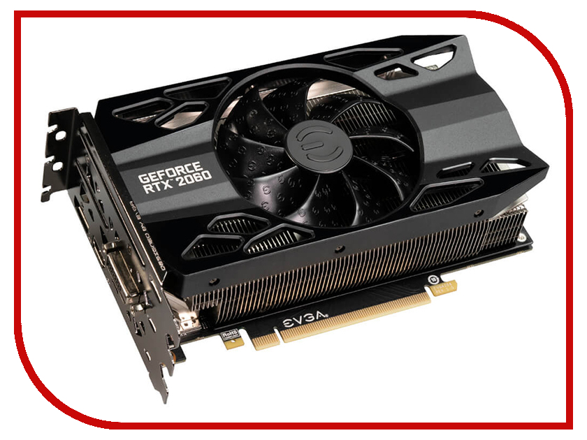 Видеокарта EVGA GeForce RTX 2060 XC GAMING 1755Mhz PCI-E 3.0 6144Mb 14000Mhz 192 bit DVI-D DP HDMI 06G-P4-2063-KR pci e to