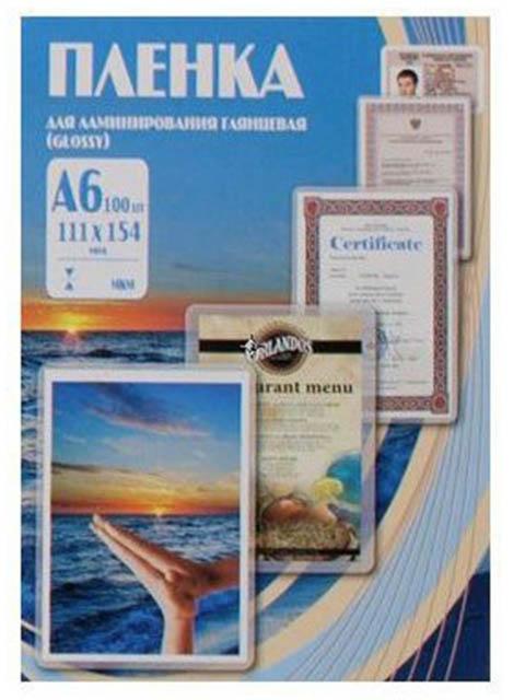 Пленка для ламинирования Office Kit A6 111x154мм 80мкм 100шт глянцевая PLP111*154/80